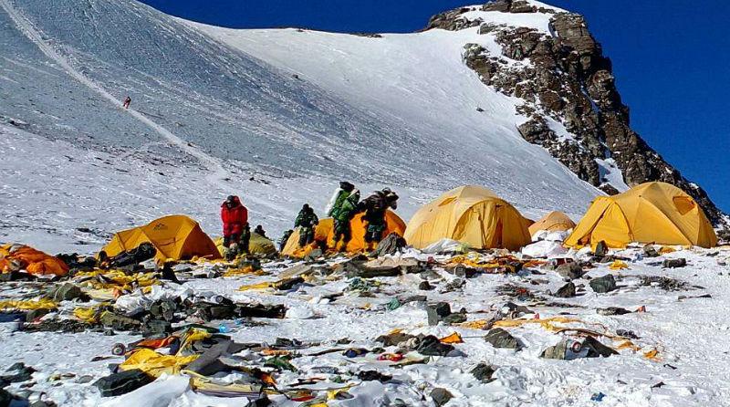 Эверест, қоқыс